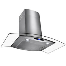 30  Wall Mount Stainless Steel Touch Panel Kitchen Range Hood Cooking Fan
