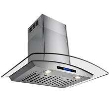 36  Europe Exhaust Stainless Steel Glass Wall Range Hood Stove Vent w  Remote