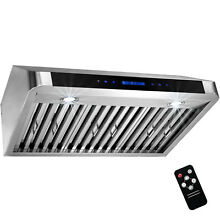 30  Under Cabinet Stainless Steel Kitchen Touch Panel Control Cooking Range Hood