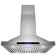 30  Stainless Steel Island Kitchen Range Hood w  Touch Control Panel