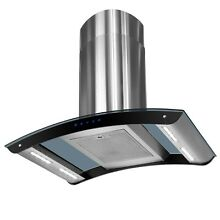 36  Stainless Steel Island Mount Range Hood w  LED Strips   Aluminum Mesh Filter