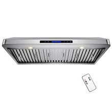 42  Stainless Steel Under Cabinet Powerful Kitchen Vent Cooking Fan Range Hood