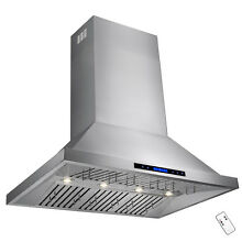 48  Wall Mount Range Hood Vent Touch Control Modern Stainless Steel