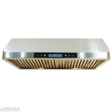 30  Stainless Steel Under Cabinet Range Hood Kitchen Stove Vent touch screen