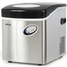 Stainless Steel Countertop Freestanding Ice Maker Portable Icemaker 48lb Per Day