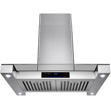 30  Kitchen Island Mount Display Touch Screen Control Stainless Steel Range Hood