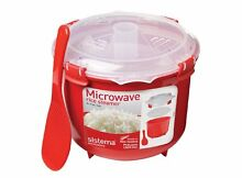 Sistema Microwave Rice Steamer   2 6 L  Red Clear