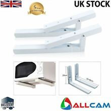 Allcam Microwave Holder Wall Mount Adjustable   Extendable Bracket in White