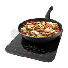 QUEST 2000W DIGITAL INDUCTION HOB HOT PLATE WITH 10 TEMP SETTINGS SINGLE BLACK