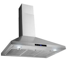 36  Wall Mount Stainless Steel Touch Panel Kitchen Range Hood Cooking Fan