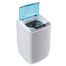 Compact Fully 7 7lbs Portable 3 5KG Load Automatic Home Washing Machine  White