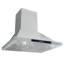 Range Hood Kitchen 36  Panel Control Wall Mount Silver Cook  Stainless Steel