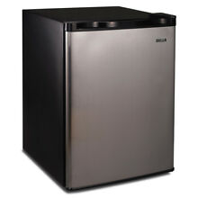 Stainless Steel 2 6 Cu Ft  Compact Refrigerator Mini Freezer Small Office Fridge