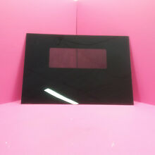 KENMORE ELECTRIC RANGE BLACK OVEN DOOR GLASS 28 1 4  BY 19 1 16   326367