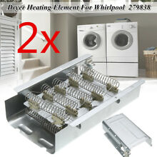 2X Dryer Heating Element 279838 AP3094254 For Maytag Whirlpool Kenmore Estate US