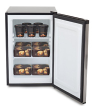 Upright Freezer Deep Apartment Stainless Steel w  Lock Energy Star Black Dorm