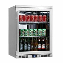 KingsBottle KBU55 SS 24  Undercounter Heating Glass Door Beverage Cooler Fridge