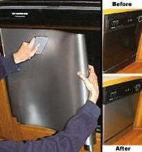 Instant Peel and Stick Appliance Stainless Steel Dishwasher Makeover Panel Satin