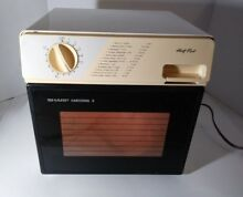 Sharp Vintage Carousel II Half Pint Household Microwave Oven R4075 RV 1988 Japan