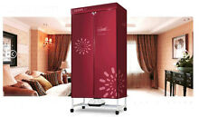 Red Mute Portable Home Energy saving Rotary Drying Electric Air Clothes Dryer