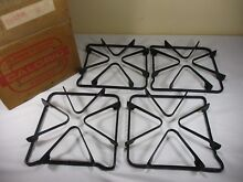 NEW Caloric Gas Stove Top Range Burner Grates Square Set of 4 8 25  x 8 75