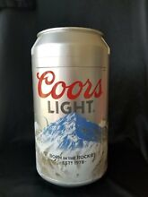 COORS LIGHT MINI CAN FRIDGE SILVER THERMOELECTRIC COOLER 12VDC OR 110AC