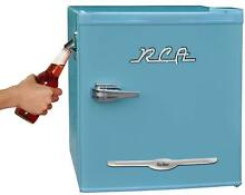Rca Rfr176 Blue 1 6 Cu  Ft  Retro Bar Fridge With Side Bottle Opener  Blue