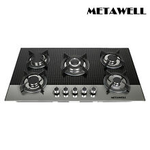 35 5 inch Coated Glass 5 Burners Built In Stove NG Gas Cooktop Cooker G