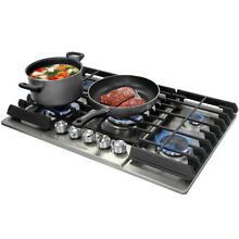 THOR KITCHEN 36  30  Gas Rangetop Cooktop Oven 5 burner stainless steel Griddle