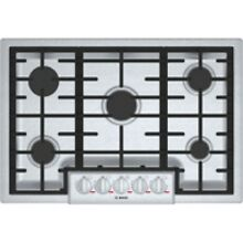 Bosch Benchmark Series 30  Stainless Steel 5 Burner Gas Cooktop