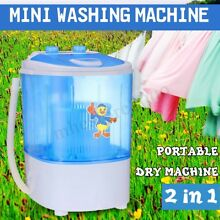 Portable Mini Washing Machine Compact Washer Spin Spinner   Dehydration