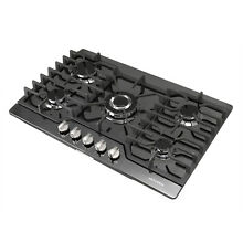 30 Titanium Built in 5 Burners Stove LPG NG Gas Hob Kitchen Cooktops Cooker
