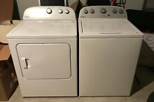 Whirlpool Full Sized Top Load High Efficiency Washer   Electric Dryer 2 Y O