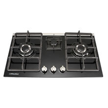 30  Kitchen Gas Hob Kitchen Cook Stove Cooktop with NG LPG converter Kit   US