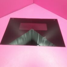 GE DROP IN RANGE BLACK OVEN DOOR GLASS 29 5 8  W x 20  D WB57T10110 WB57K5235