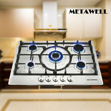 Built In 5 Burner Stoves Cooktops 30  Stainless Steel NG LPG Gas Hob Cook Tops