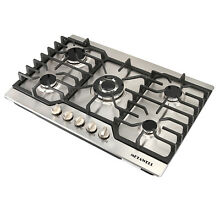 Brand METAWELL 30  Stainless Steel 5 Burners Built in Stove Cooktop LPG NG Gas