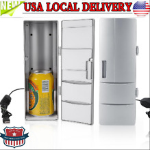Mini USB Fridge Freezer Cans Drink Beer Cooler Warmer Travel Car Office Use