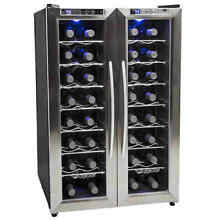 Edgestar   32 Bottle Free Standing Dual Zone Wine Cooler w  French Doors