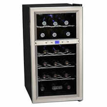 Koldfront   18 Bottle 14  Free Standing Wine Cooler   Dual Zone   Right Swing