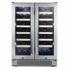Avallon   42 Bottle 24  Built In Dual Zone Wine Cooler  French Doors