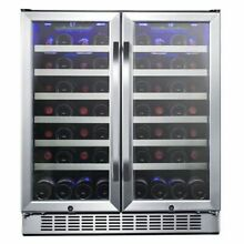 Edgestar   56 Bottle 30  Built In or Free Standing Wine Cooler   French Door