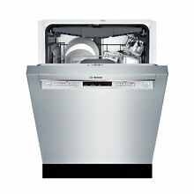 Bosch 24  Recessed Handle Dishwasher Stainless Steel SHEM63W55N New Scratch Dent