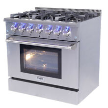Thor 36  Pro Gas Range HRG3618U Professional Stainless Steel w  6 Burners Stove