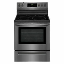 Frigidaire Electric Range with Self Cleaning Oven in Black Stainless Steel