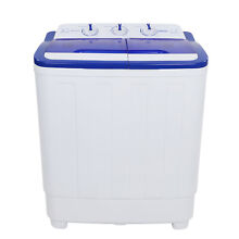 Small 16lbs Portable Washing Machine Washer Compact Spin Dryer Laundry White