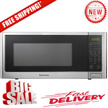 Kenmore 75653 1 2 cu  ft Countertop Microwave Oven Stainless Steel BRAND NEW