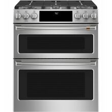 Cafe 30  ADA Slide In Front Control Gas Double Oven With Convection Range
