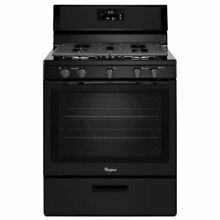 Whirlpool 5 Burner 5 1 cu ft Freestanding Gas Range  Black