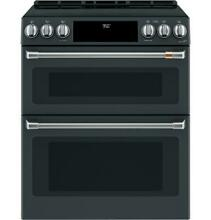 GE Cafe 30  Induction   Convection Double Oven Matte Black Range NEW